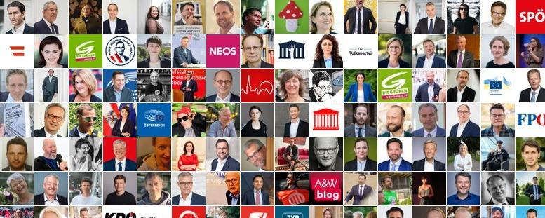 Collage aus den Avatar-Bildern der Mitglieder der Liste Politik