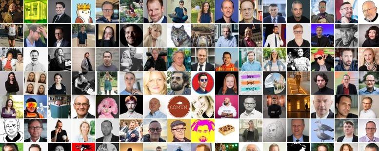 Collage aus den Avatar-Bildern der Mitglieder der Liste Weitere Influencer
