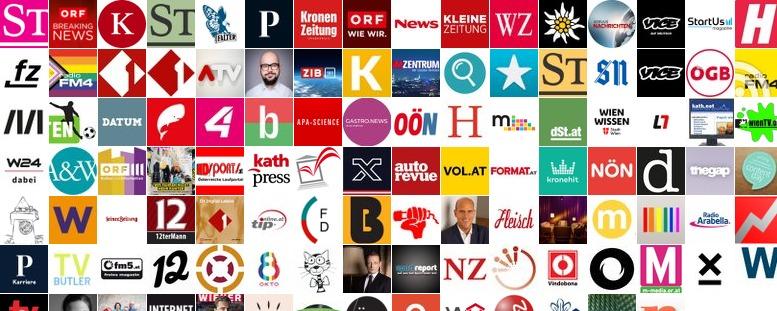 Collage aus den Avatar-Bildern der Mitglieder der Liste Medien / Redaktionen
